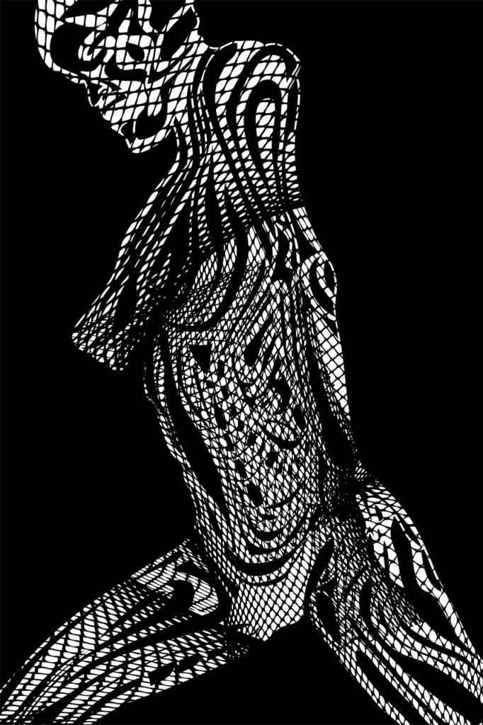Abstrakte Illustration Netz