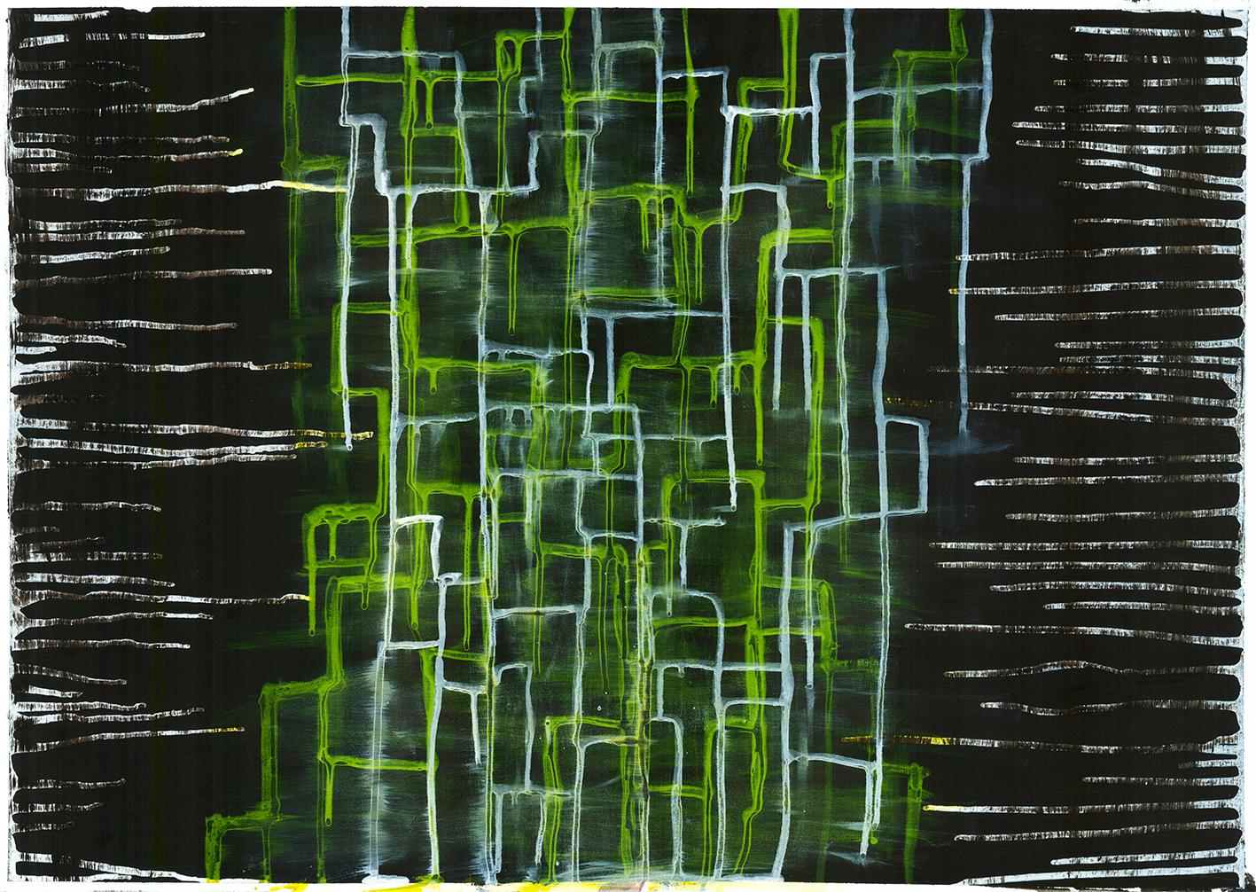 Acryltechnik - Abstrakte Malerei Farbtunnel
