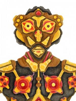 Robot 3 - Aquarell Illustration
