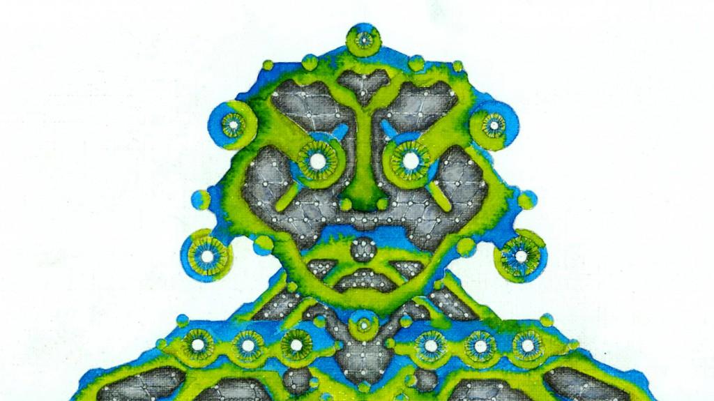 Robot Illustration Watercolour