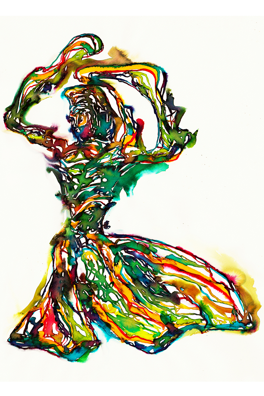 Dancing Girl Illustration