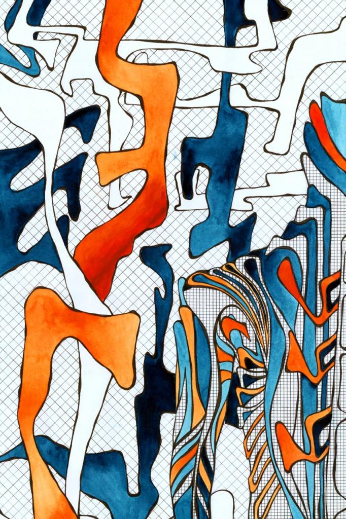 Abstrakte Körperstudie Vierneisel Kunst