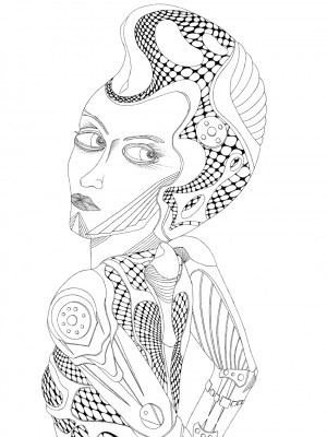 Space Girl Illustration Tobias Vierneisel