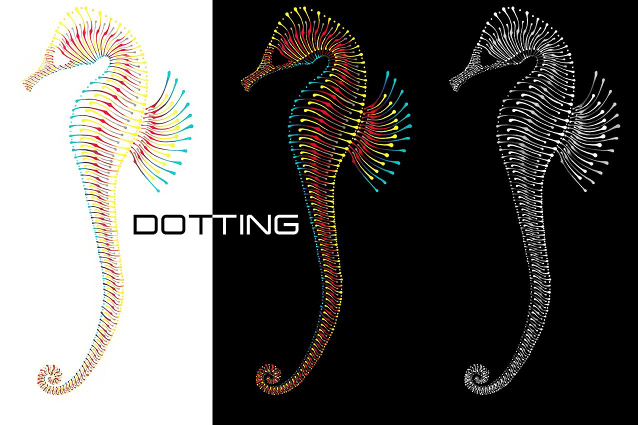 Dotting Art - Seehorses