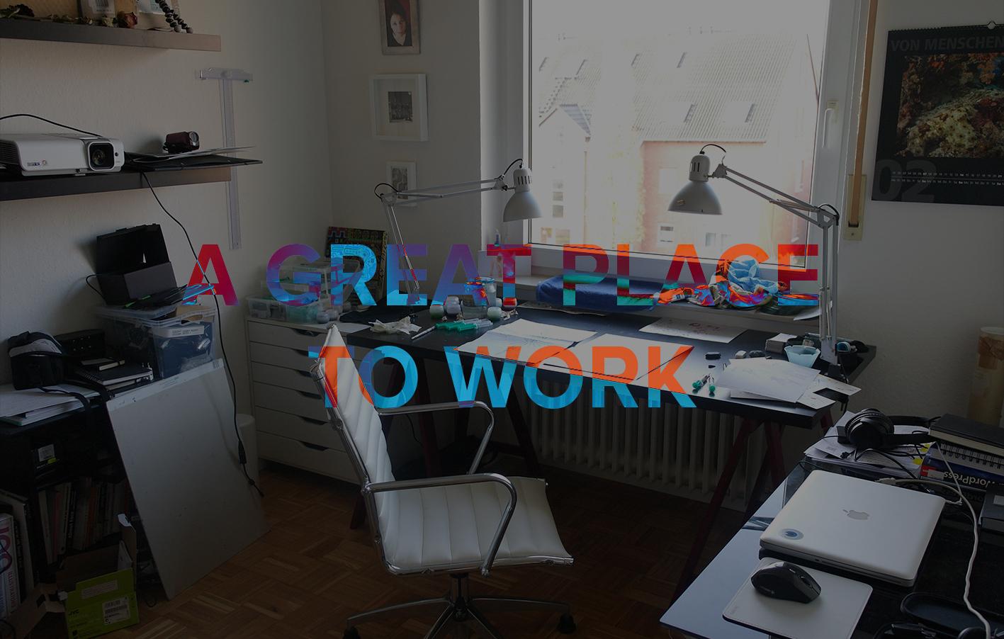 artist studio - künstleratelier, kreativer Arbeitsplatz