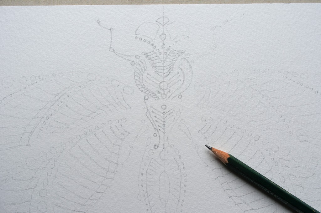 Skizze Farbtunnel Dragonfly