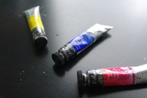 Aquarellfarbe in der Tube