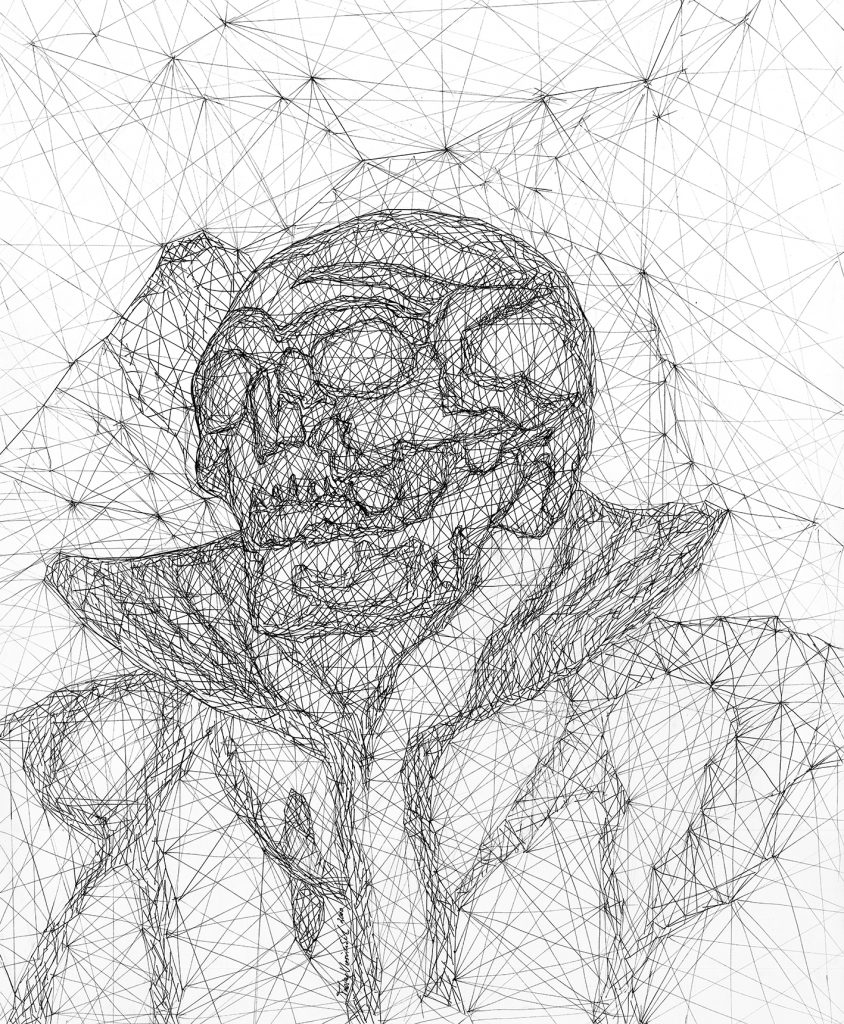 Abstract Skull Drawing