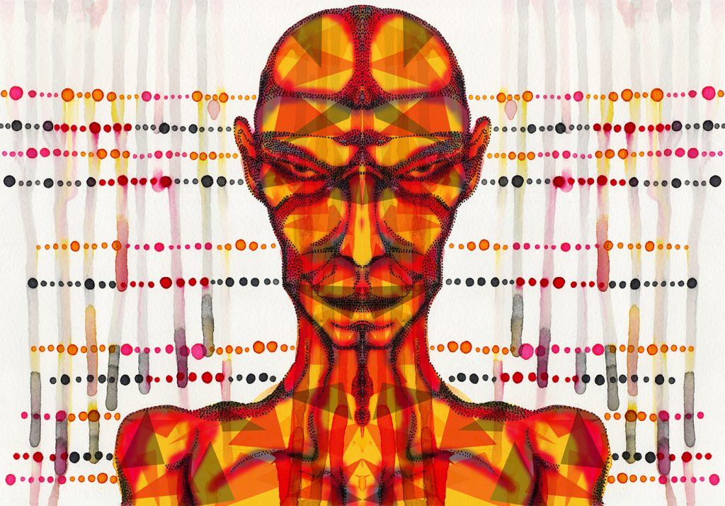 Analog and digital art combination
