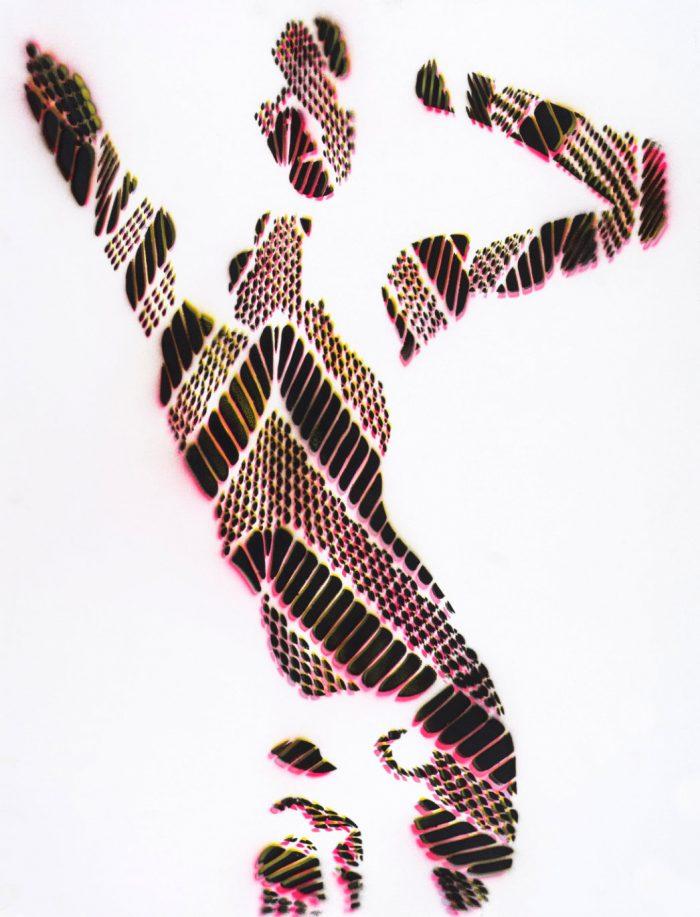 Stencil artwork ghost_1 fishnet tights