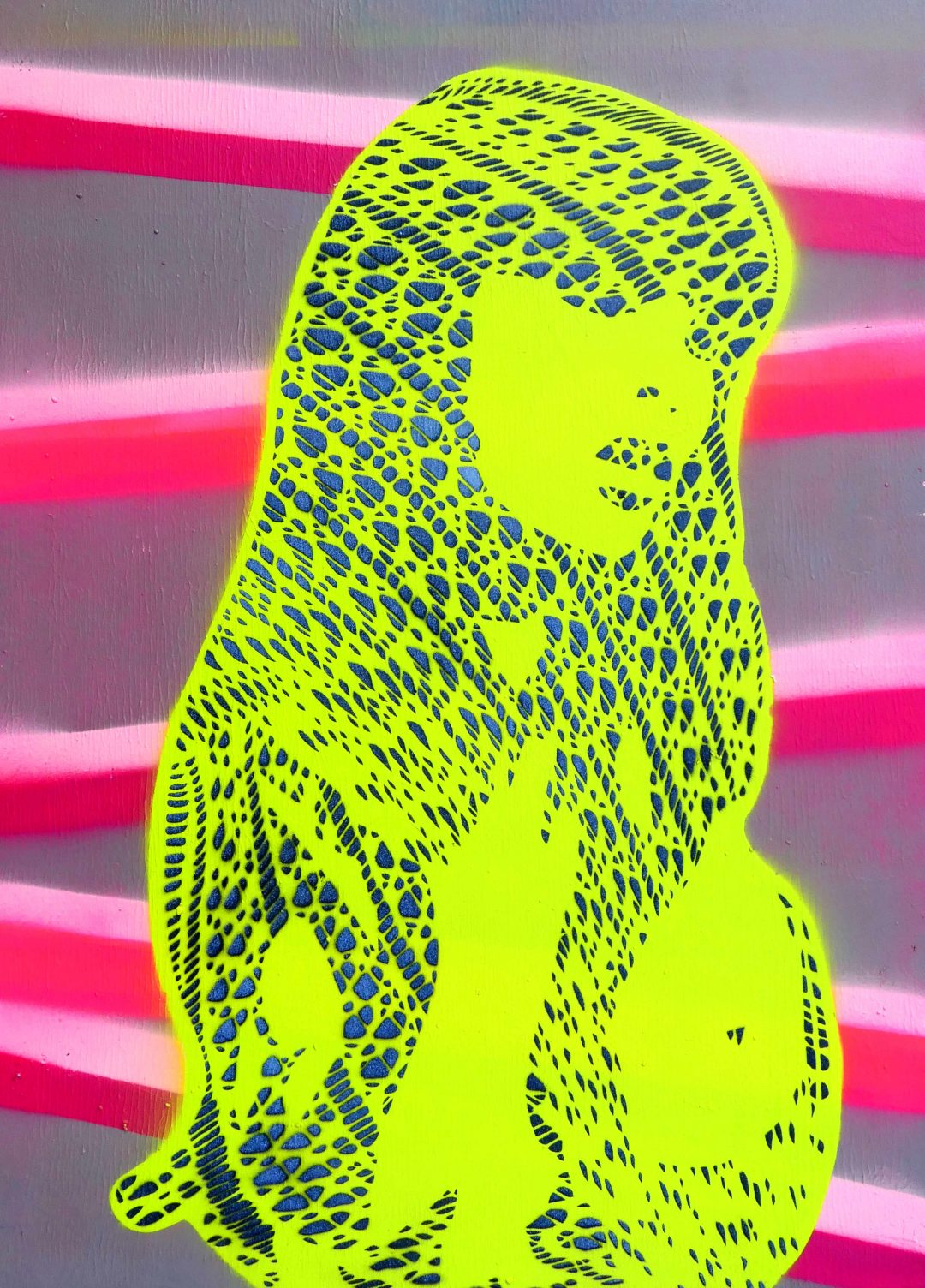 Stencil Artwork Ghost_2 fishnet tights