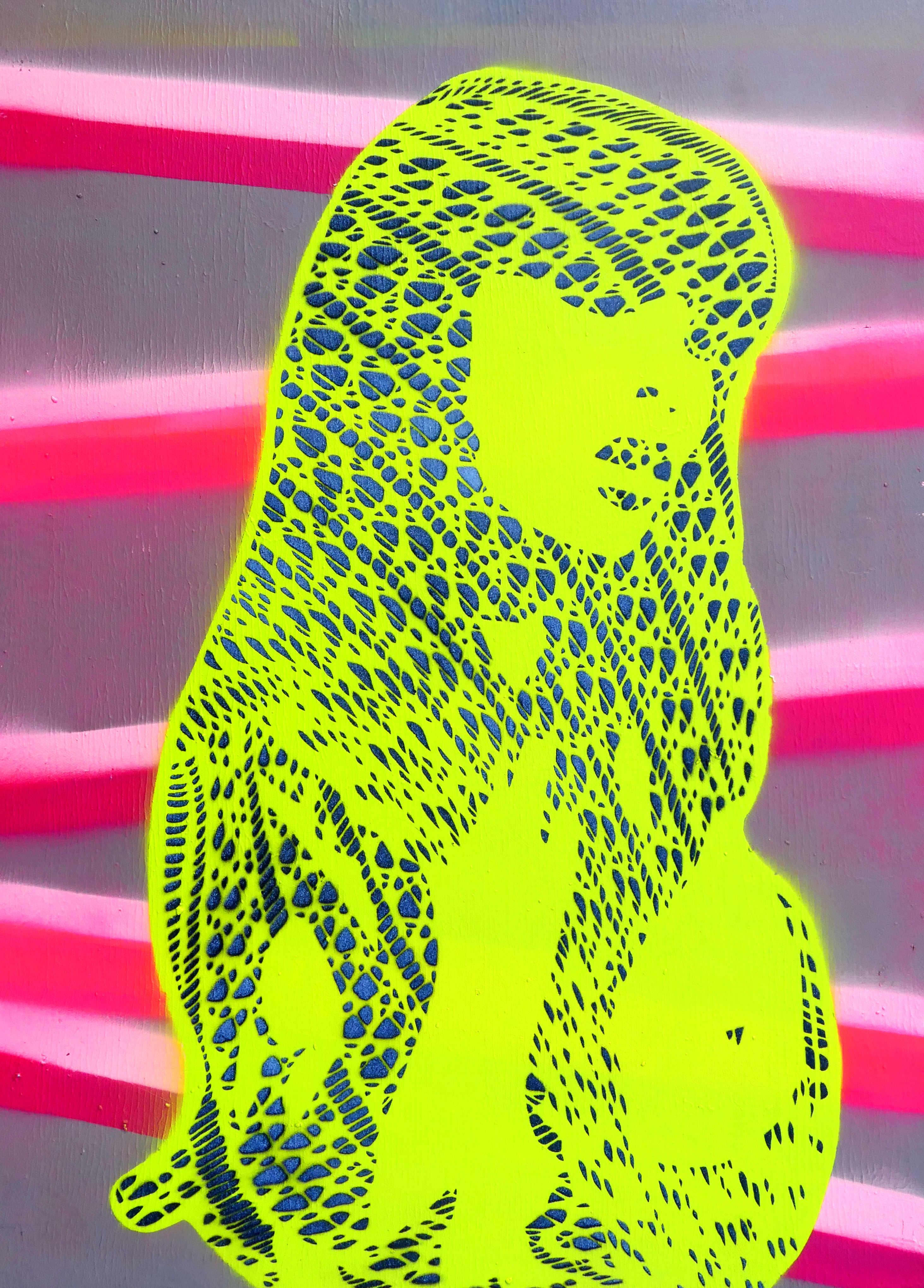 Stencil Artwork Ghost_2 fishnet tights