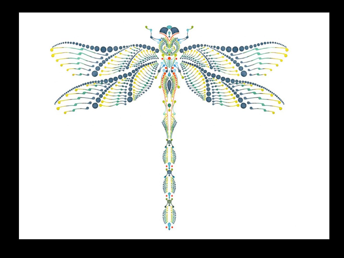 Dragonfly Dotting Art