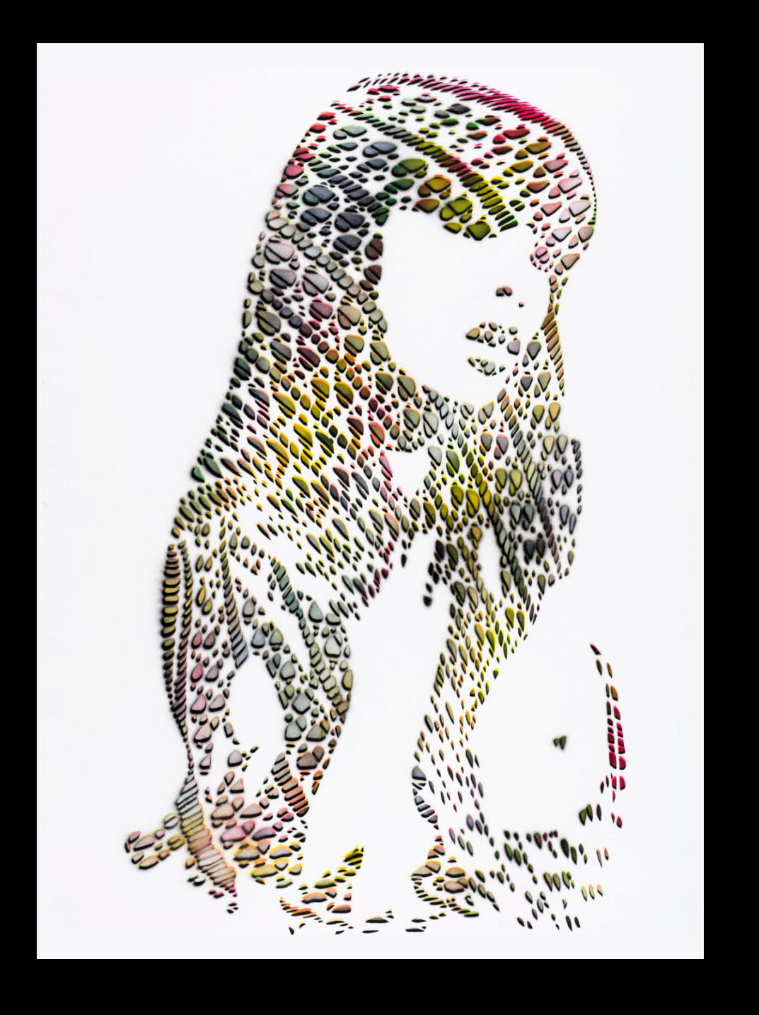 Stencil art print
