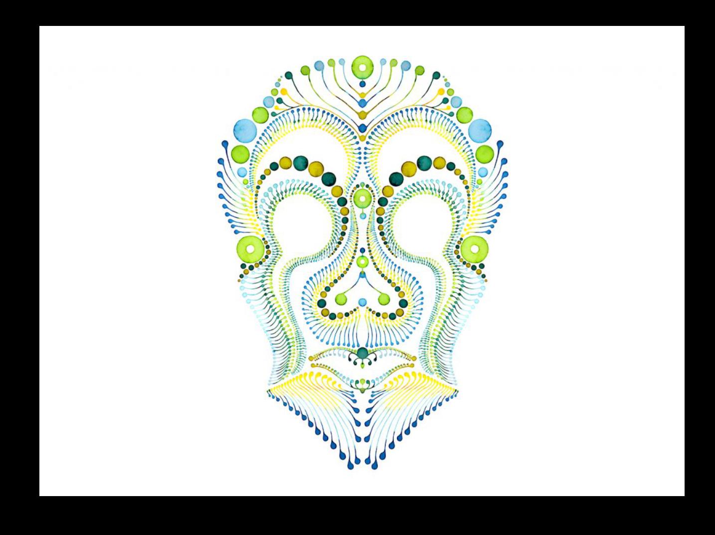 Dotting Art Skull Illustration